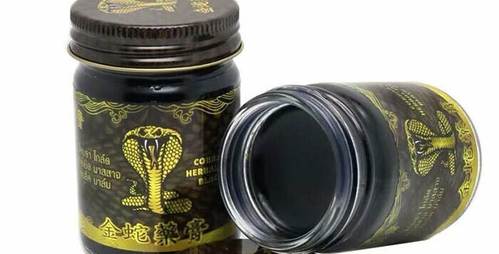 SapThai Herbs Black Herbal Balm with Fat and King Cobra Venom