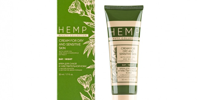 CREAM FOR DRY AND SENSITIVE SKIN WITH HEMP OIL AND WILD CHAMOMILE EXTRACT