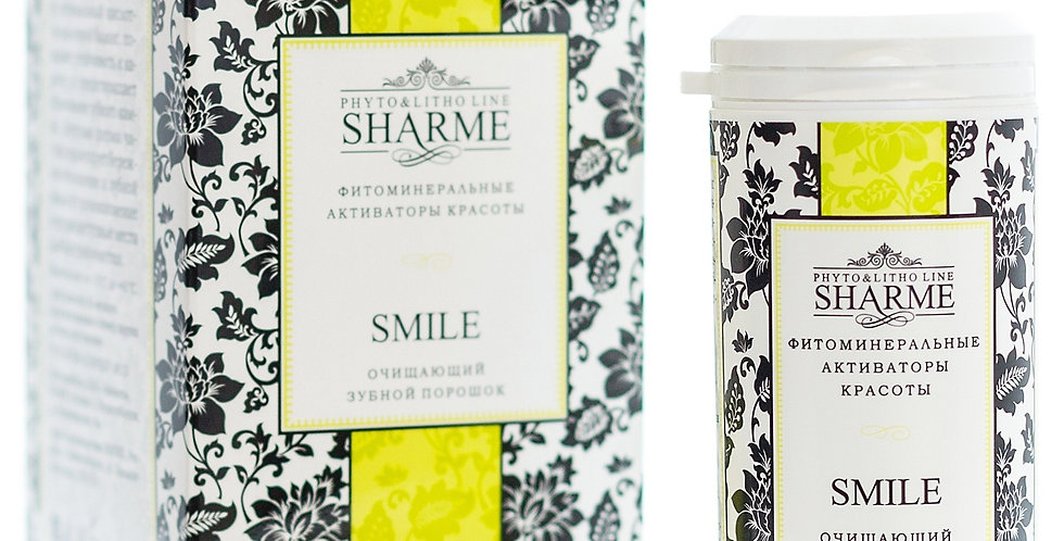 SHARME SMILE CLEANSING TOOTH POWDER