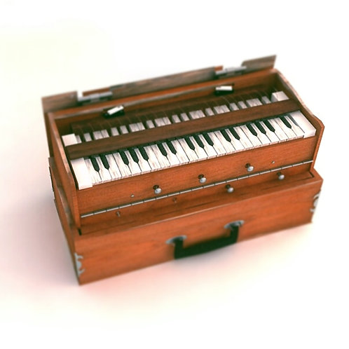 3d Harmonium creatd by Animasai in different formats.