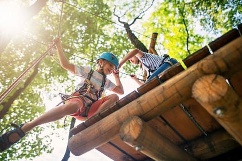 Actividad al aire libre para niños