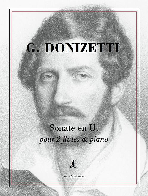G. DONIZETTI Sonate en Ut pour 2 flûtes & piano