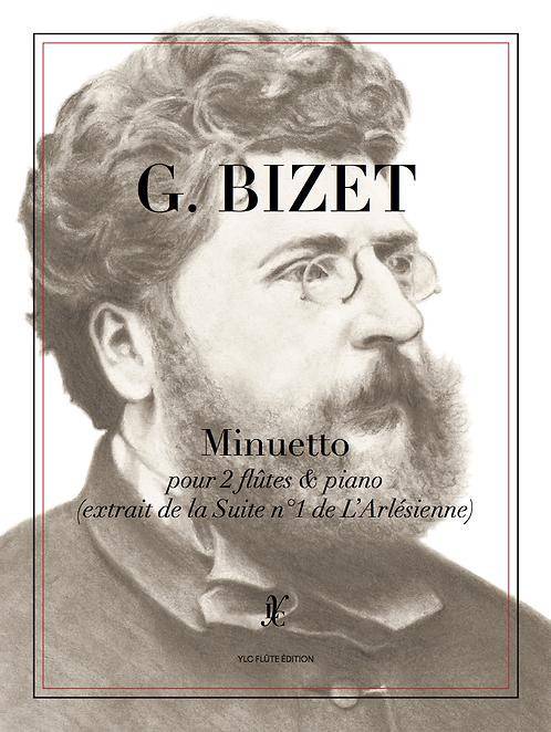 G. BIZET Minuetto I pour 2 flûtes & piano