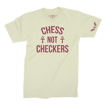 CHESS NOT CHECKERS TEE (CREAM)