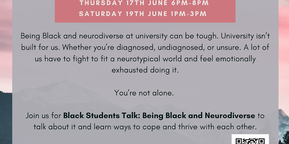 Black Students Talk: Being Black and neurodiverse (SESSION B)