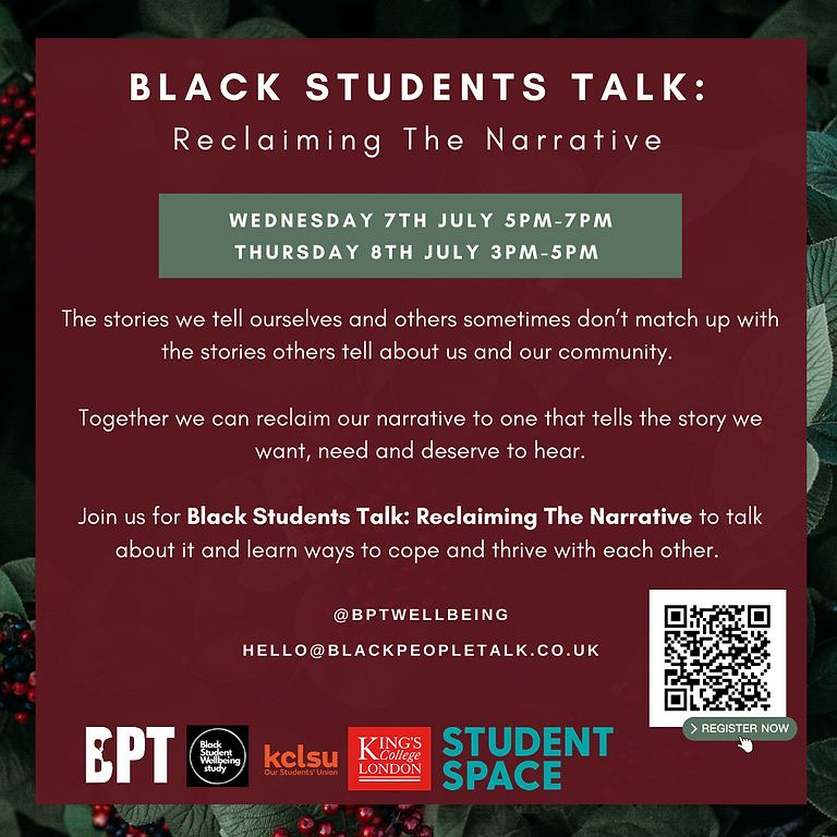Black Students Talk: Reclaiming the narrative (SESSION A)
