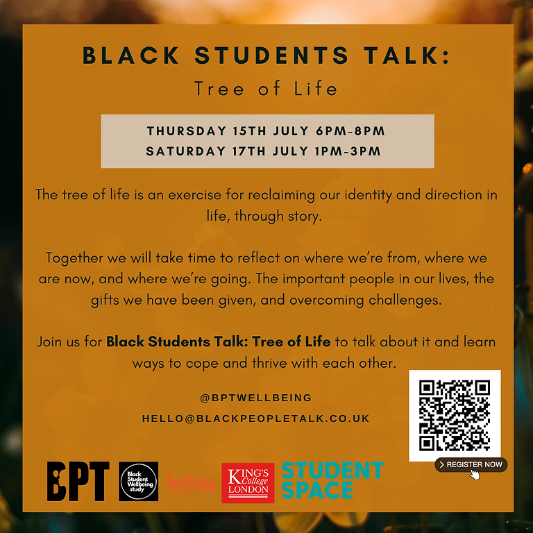 Black Students Talk: Tree of Life (SESSION A)