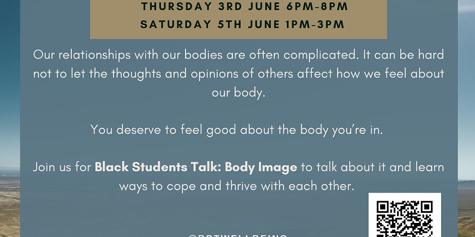 Black Students Talk: Body image (SESSION B)