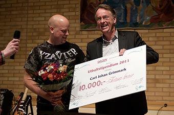 Roland Utbult tillsammans med Carl Johan Grimark – 2011 års utbultstipendiat.