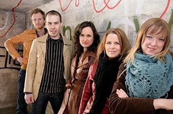 Vokalgruppen Dynamic – 2009 års utbultstipendiater.