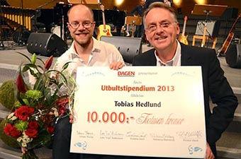 Roland Utbult tillsammans med Tobias Hedlund – 2013 års utbultstipendiat.