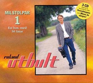 """""""Milstolpar"""" från 1998 är en CD-box med Roland Utbult. Boxen innehåller 50 låtar på tre CD."""