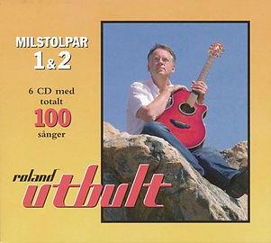 """""""Milstolpar 1 & 2"""" från 2016 är Roland Utbults båda CD-boxar förpackade som dubbel-box. Totalt 100 låtar."""