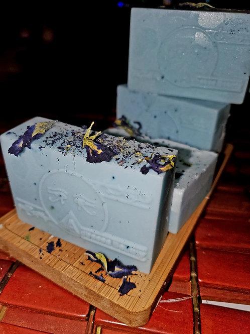 Butterfly pea soap!