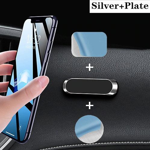 LISM Magnetic Car Phone Holder Dashboard Mini Strip Shape Stand iPhone Samsung