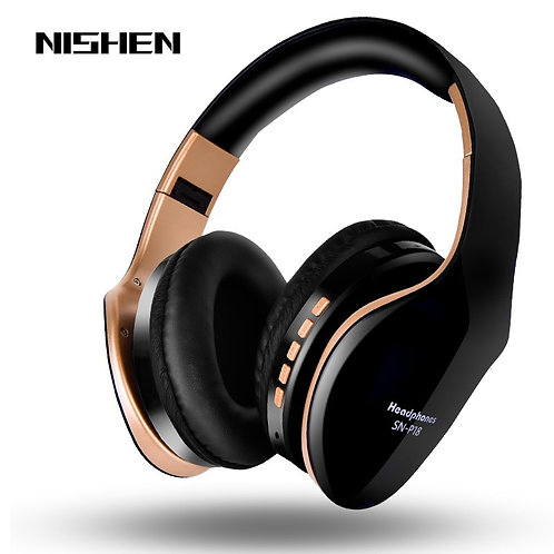 Wireless Bluetooth Headphon Noise Cancelling  Stereo Bass Sound Mic PC All Phone