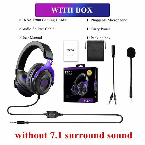 EKSA Gaming Headset E900 PRO 7.1 Surround  Wired  USB/3.5mm Mic for Xbox PC PS4