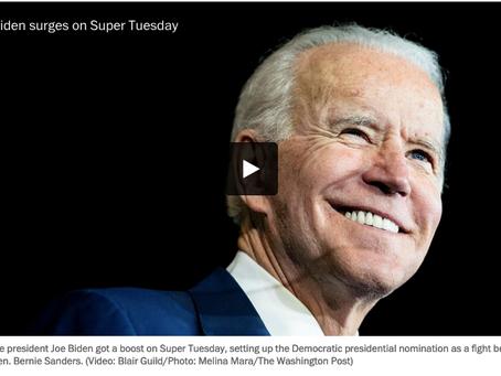 Super Tuesday -- Biden vs. Sanders