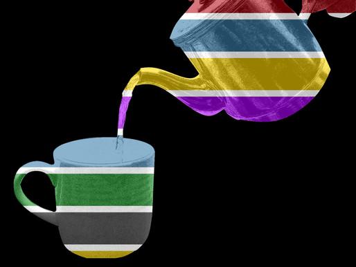 Tea Art - Colourful Pour