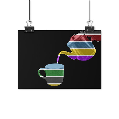 Pouring Colour Poster