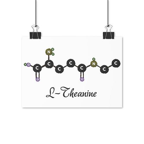 L-Theanine Molecule Poster