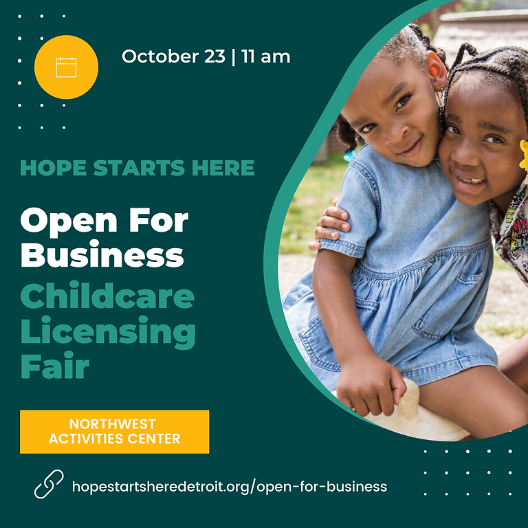 Open For Business Childcare Licensing Fair