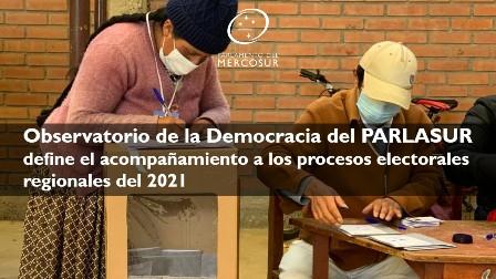 PARLASUR define su participación en los procesos electorales regionales del 2021