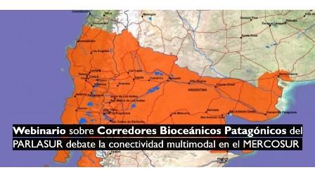 Webinario sobre Corredores Bioceánicos Patagónicos del PARLASUR debate la conectividad multimodal en