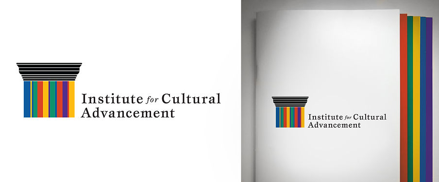 Institute for Cultural Advancement - Identity and brochure for capacity building institute for arts organizations