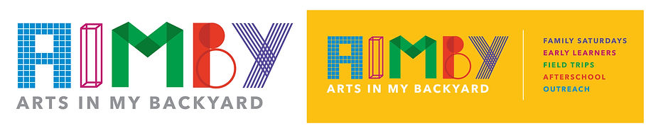 Arts in My Backyard - Identity for children's art program