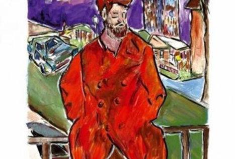 Hand Signed Bob Dylan Drawn Blank Series 2008 'Man On A Bridge'