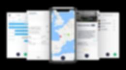 Purple App Phone Mockup Sales Marketing