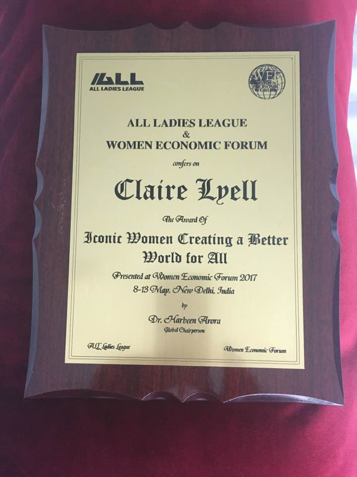 Award from All ladies league & economic forum