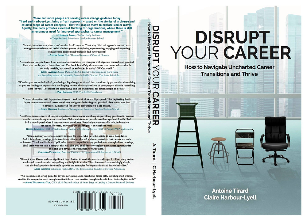 Book cover for disrupt your career