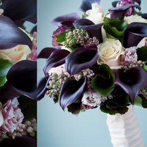 Black calla lily bridal bouquet