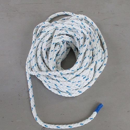 ウインチ用延線林業ロープ・テトロン12打ロープ 太さ14mm