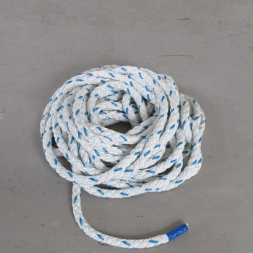 ウインチ用延線林業ロープ・テトロン12打ロープ 太さ16mm