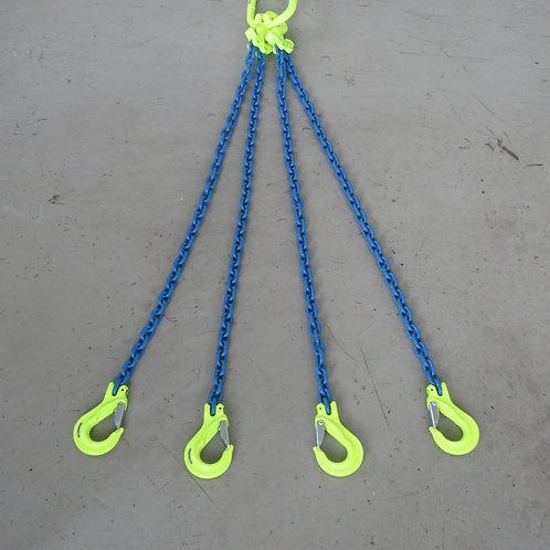長さ調整4点吊チェーンスリング・マーテックMFAマスターリンク付CGD-6 2個・EGKNAフック1.1T