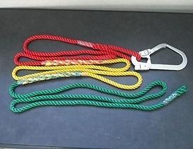3色介錯ロープ フック付き