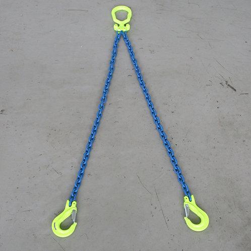 長さ調節2点吊チェーンスリング マーテックMGD-6マスターリンク EGKNAフック1.2T