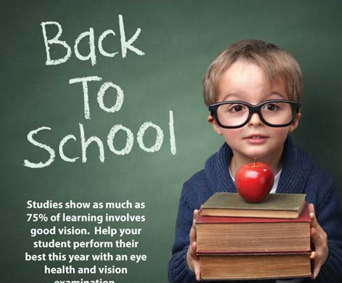 BACK TO SCHOOL AND VISION CARE