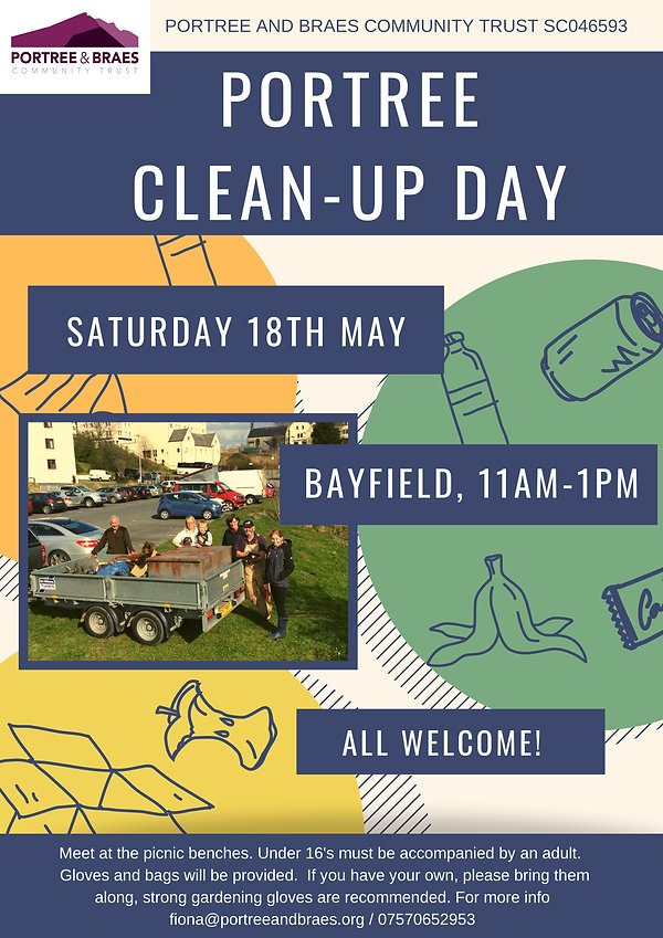 Portree Clean Up Day Poster April 2019 J