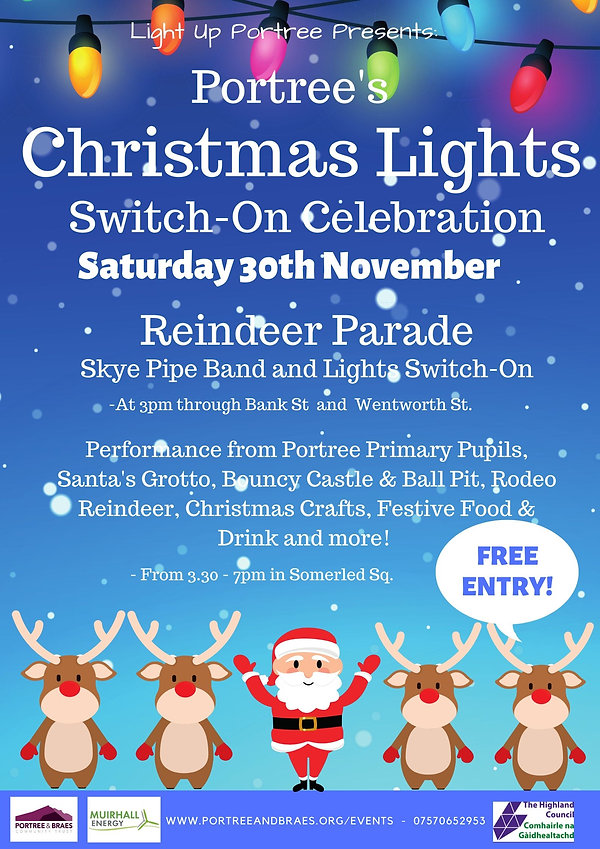 Christmas Lights Switch on Event Poster