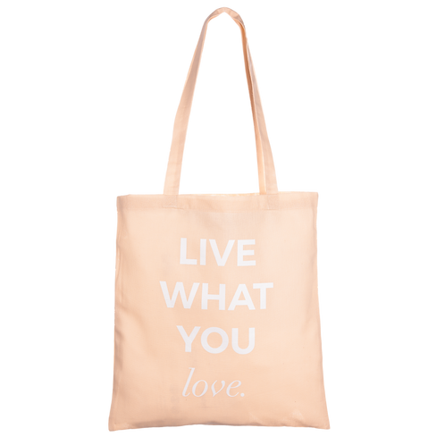 LIVE WHAT YOU LOVE - apricot