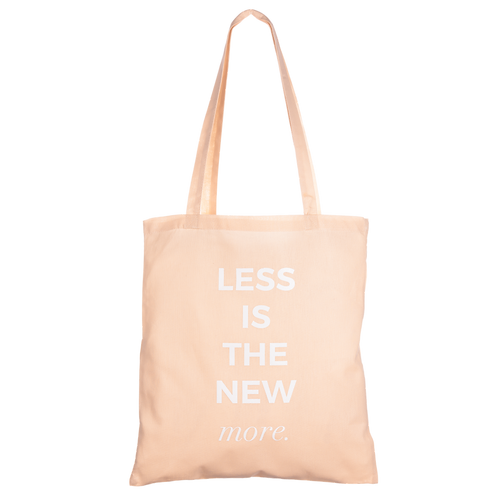LESS IS THE NEW MORE - apricot