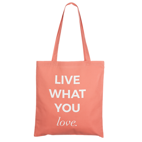 LIVE WHAT YOU LOVE - coral