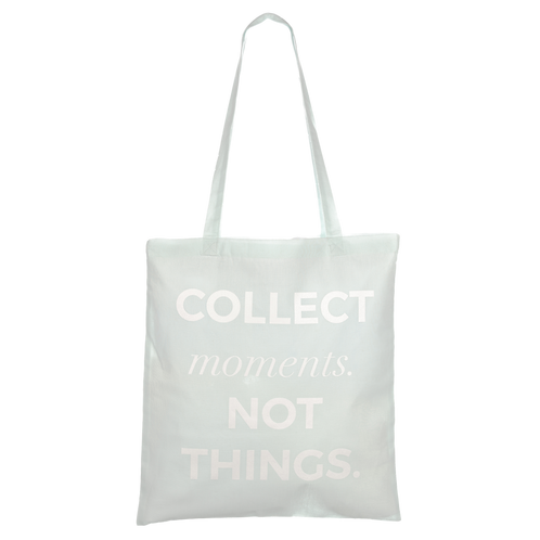 COLLECT MOMENTS NOT THINGS - mystic blue/mint