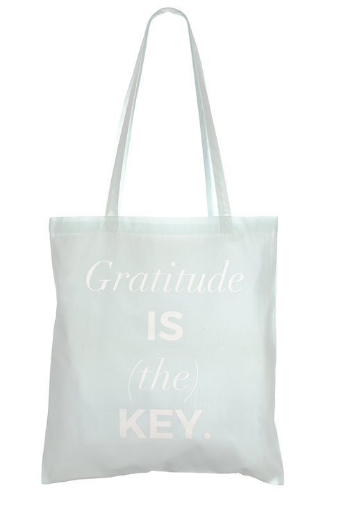 GRATITUDE IS (THE) KEY | ORGANIC COTTON BAG
