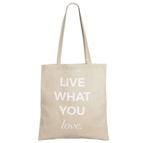 LIVE WHAT YOU LOVE - taupe