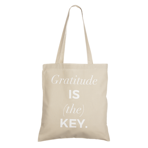 GRATITUDE IS (THE) KEY - taupe